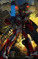 Transformers Sentinel Prime and Laserbeak by CaroRichard
