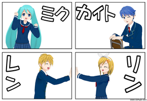 ComiPo Vocaloids by MMD-MCL