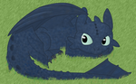Toothless the Night Fury by BlueSmudge