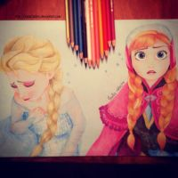 FROZEN - Anna and Elsa by giuliafabbro