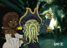 Davy Jones y Capypso by slepre