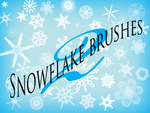 101 Snowflake Brushes by Camo-Stock