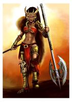 Barbarian Queen by gildeneye