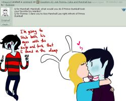 Question 69: Ask Fionna, Cake and Marshall lee by PolitosBurritos