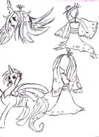 Queen Chrysalis Doodle Page by orcakat4