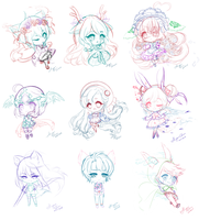 [FULL Speedsketch video] Chibi Sketch dump by ShiyumiChan