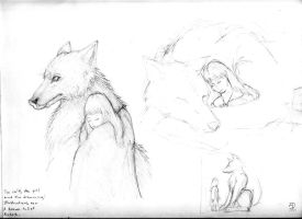 Illustrations for the Wolf II by Schwarzenwolf