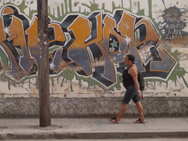Large Grafitti Tag in Holguin, Cuba, Jan. 2014 by vanfoto