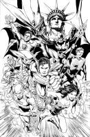 JLA NY Comicon 2011 Poster by JoePrado2010