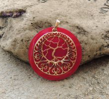 Pink Shell Tree of Life *SOLD* by SerenityWireDesigns
