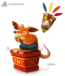 Daily Painting #960. #CrashBandicoot (FA) by Cryptid-Creations