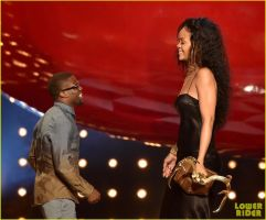 Rihanna and Kevin Hart by lowerrider
