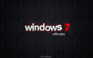 Windows 7 ultimate Evil by midhunstar