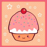 Kawaii Cupcake by koshadesing