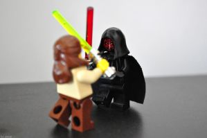 LEGO - Qui-gon vs Darth Maul by cihutka123