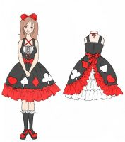 Contest entry dress design 2 by chocolatehomicide