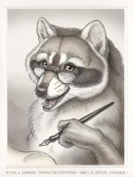 Raccoon for Will A. Sanborn by synnabar