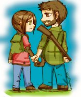 -Joel and Ellie- by Danielle-chan
