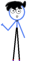 My Thomas as a Stickfigure North Western Warrior by burntuakrisp