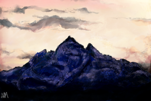 sunrise over the mountains by FlockofFlamingos