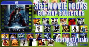 367 Movie Icons for 720p by fandvd