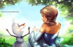 Frozen - Elsa and Olaf by borammy