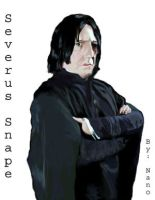 Alan Rickman as Severus Snape by Nanobear