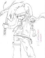 Naruto with summened frog by FinalFantasywannabe