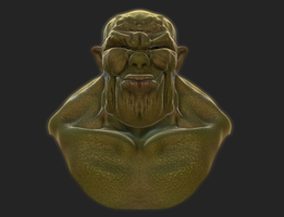 Orc Bust Speed Sculpt by iEvEtS