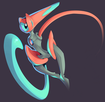 Deoxys by StickFigureQueen