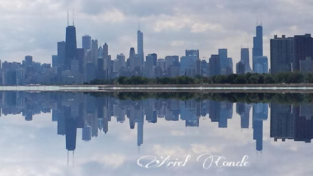 Chicago SKyline Reflection by Ariel-Conde