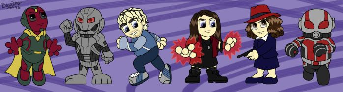 More Marvel Chibis by cardinalbiggles