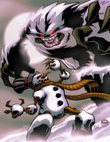Evil Snowman VS Yeti Colored by EryckWebbGraphics