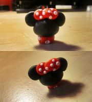 Minnie Mouse Cupcake~ Polymer Clay by FeatherLetters