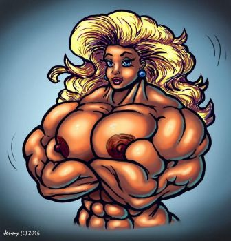 1611 Miss Muscle by Jennysartwork