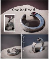 Snakehead Ring 2 by SteveSilver925