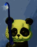 Panda Still Life with mouse by seagnomes