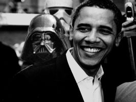 Obama meets Dark Vader by b4ddy