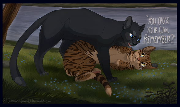 Leafpool and crowfeather by DancingfoxesLF