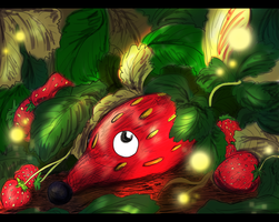 Strawberries anyone? by Blackwolfpaw