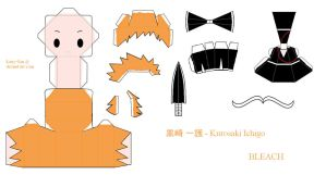 BLEACH PaperCraft - Ichigo by Larry-San
