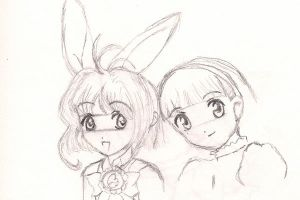 Sakura with bunny ears by Misa--Chan