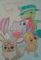 my mystery dungeon team:D by Tyusidwi