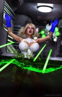 Power Girl---Kryptonite-Trap by tiangtam