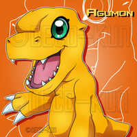 Agumon by Deco-kun