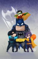 Chibi Bat-Family by nma-art