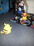 Neon Engages Pikachu in Battle! by StarbornKarissa