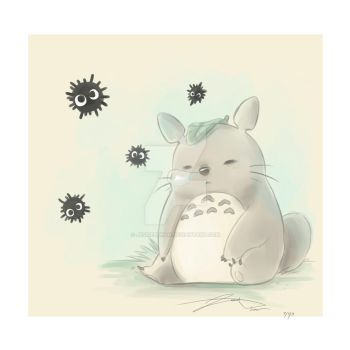 Sleeping Totoro by Jessiebphan