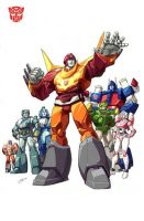 Rodimus Prime movie groupshot by Dan-the-artguy