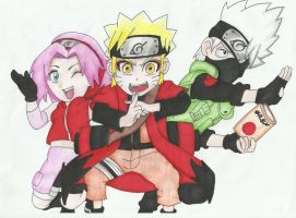 Team 7 chibi by ValdirFB